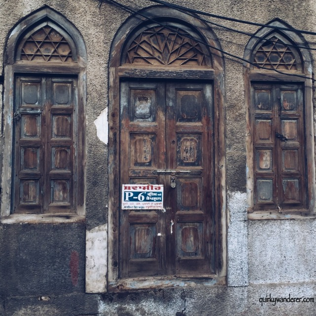 An old arched door.