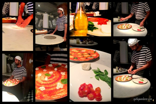Chef Uday showcasing the art to make the perfect Margherita