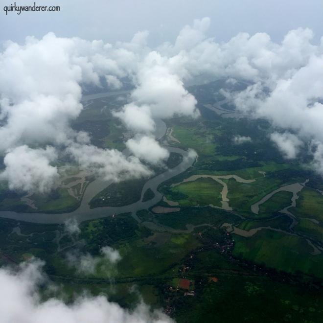 The greenery of Goa ( aerial view)