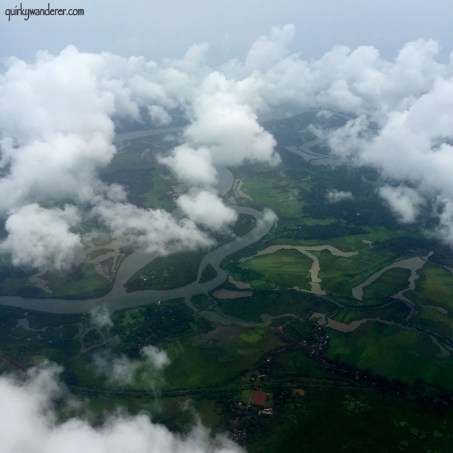 The greenery of Goa ( aerial view)