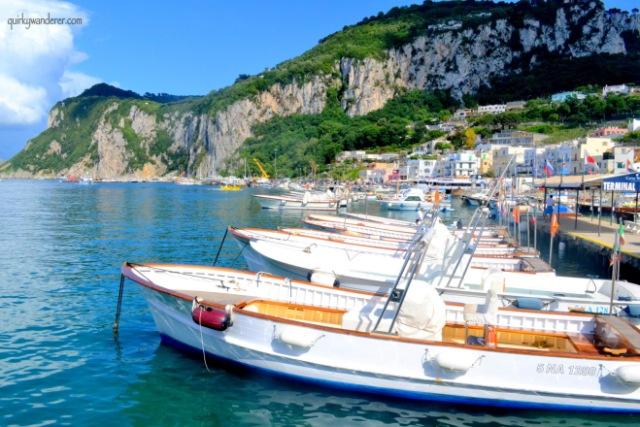 boats at capri island