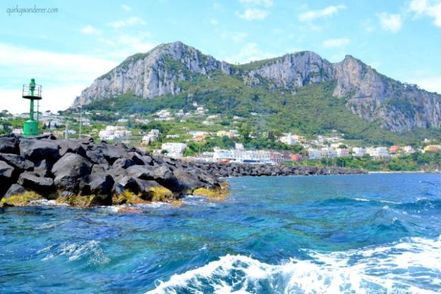 en route blue grotto from capri