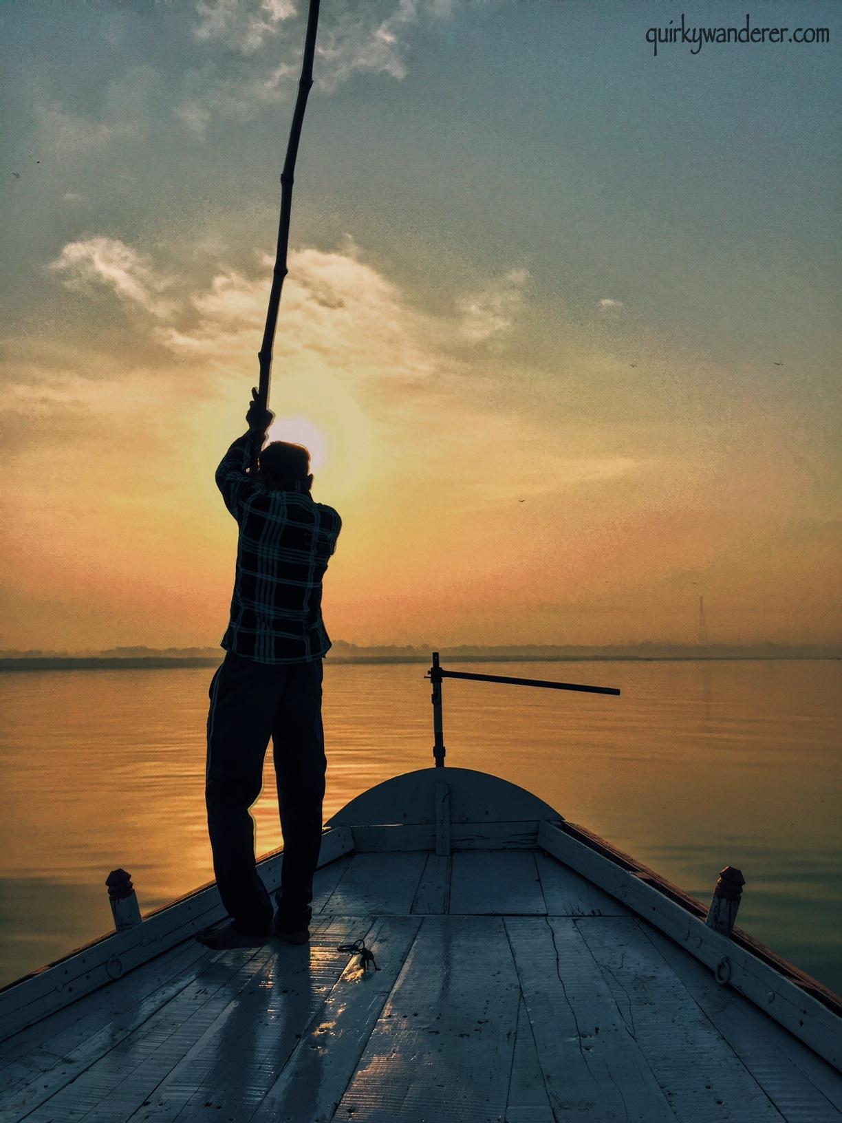 Boatman and the Ganga