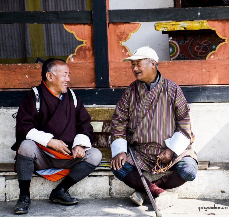 bhutan men smiling