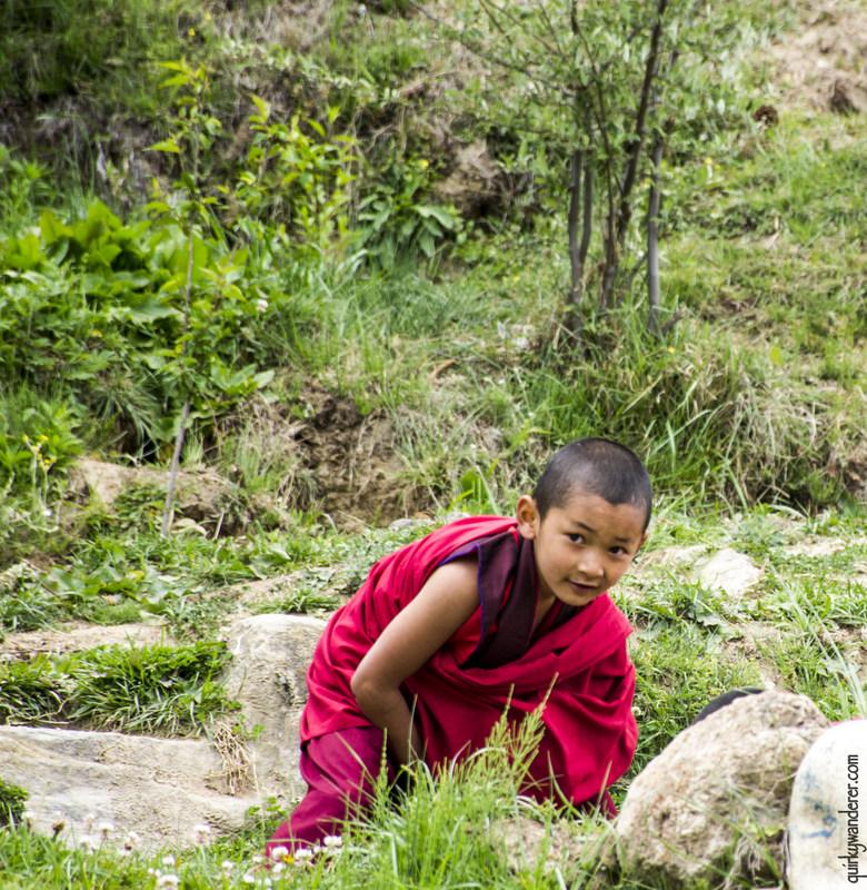 bhutan monk hiding