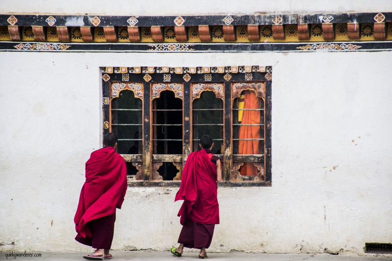 bhutan monks in dechen