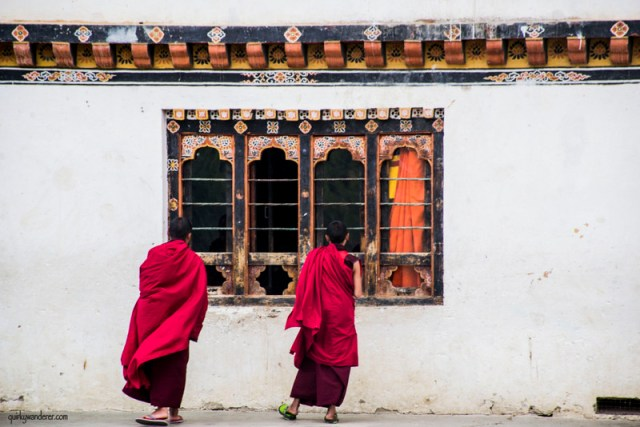 bhutan monks in dechen