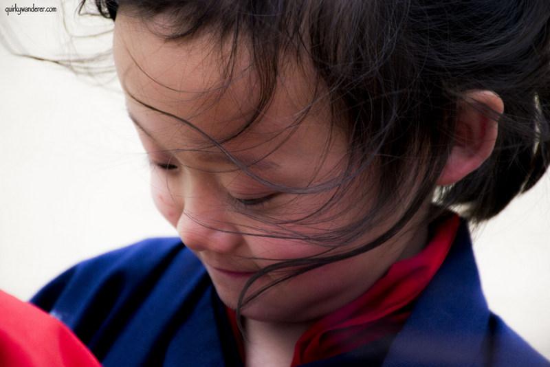 bhutanese girl in school