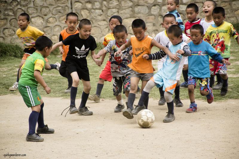 bhutanese kids football