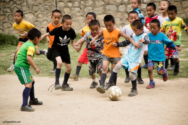 bhutanese kids football